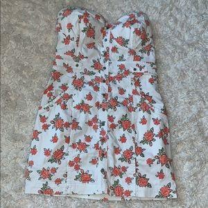 Strapless mini dress ⏱time to go..